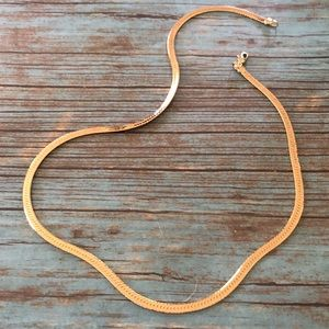 Jewelry - 5/$25 Gold Plated Herringbone Necklace NWOT